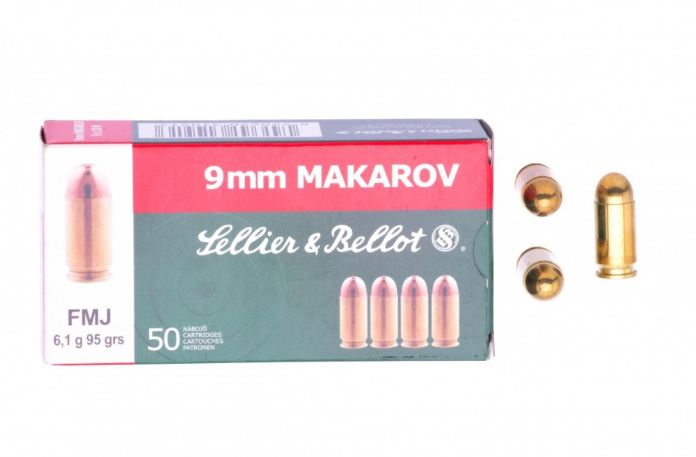 Náboje 9mm Makarov Sellier & Bellot