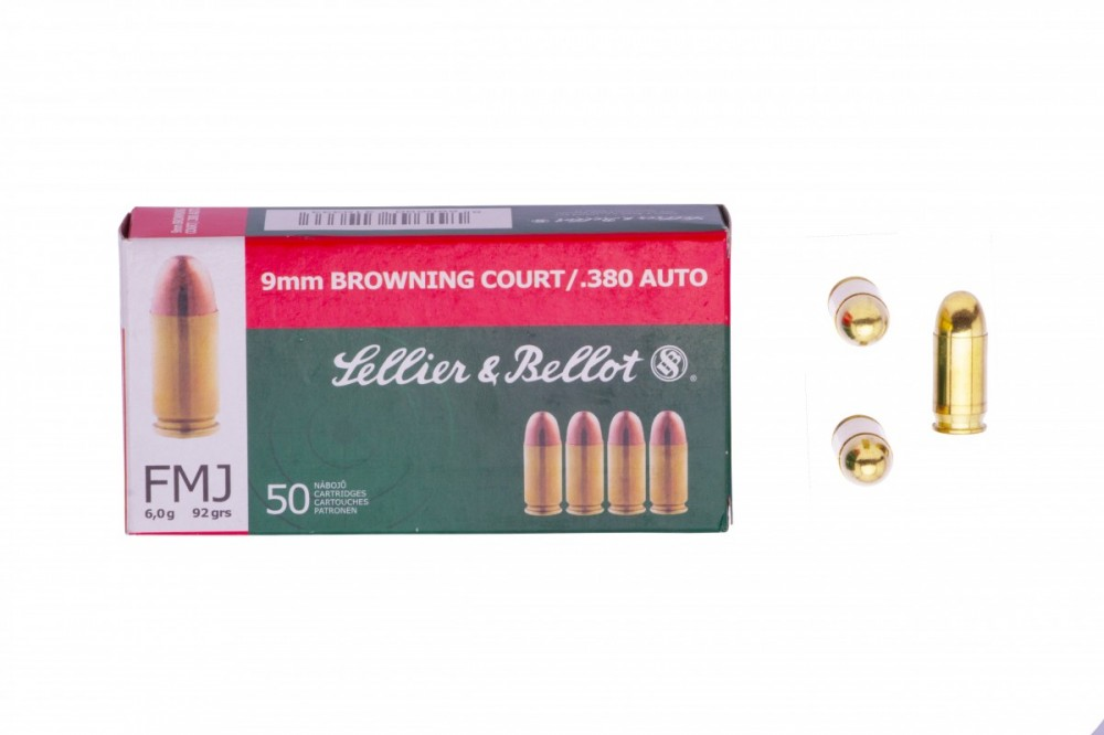 Náboje 9mm Browning court Sellier & Bellot 6g