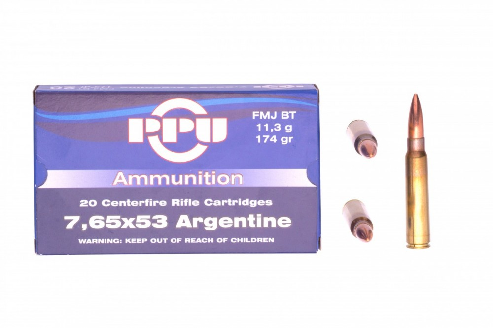 Náboje 7,65x53 Argentine PPU