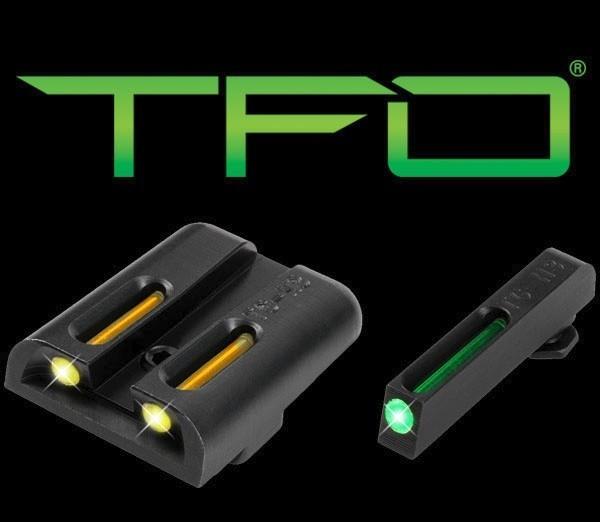 Mířidla Truglo  TFO pro Glock 17/19 LOW SET - žlutá/zelená