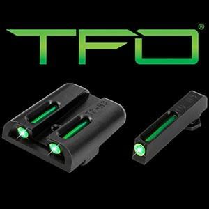 Mířidla Truglo Tritium & Fiber-Optic TFO pro Glock - zelená/zelená