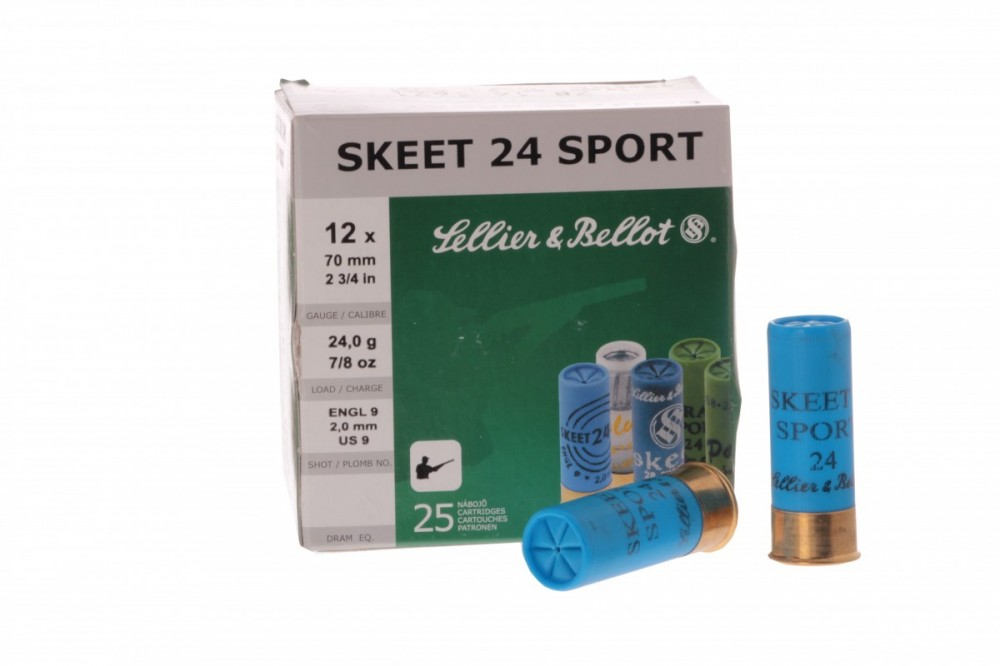 Náboje 12/70 SKEET 24 SPORT 2,0mm Sellier & Bellot