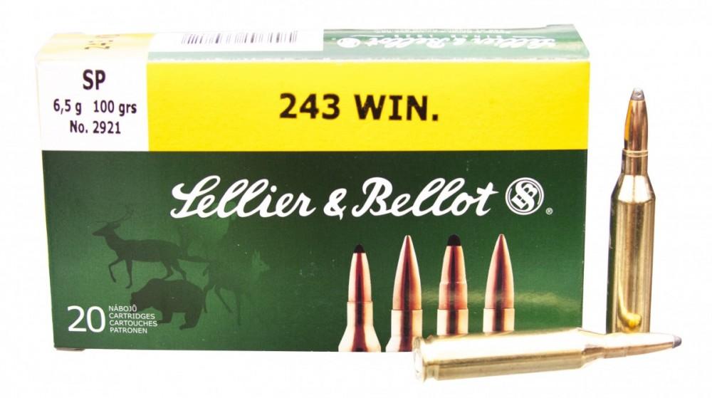 Náboje .243 Win SP Sellier & Bellot