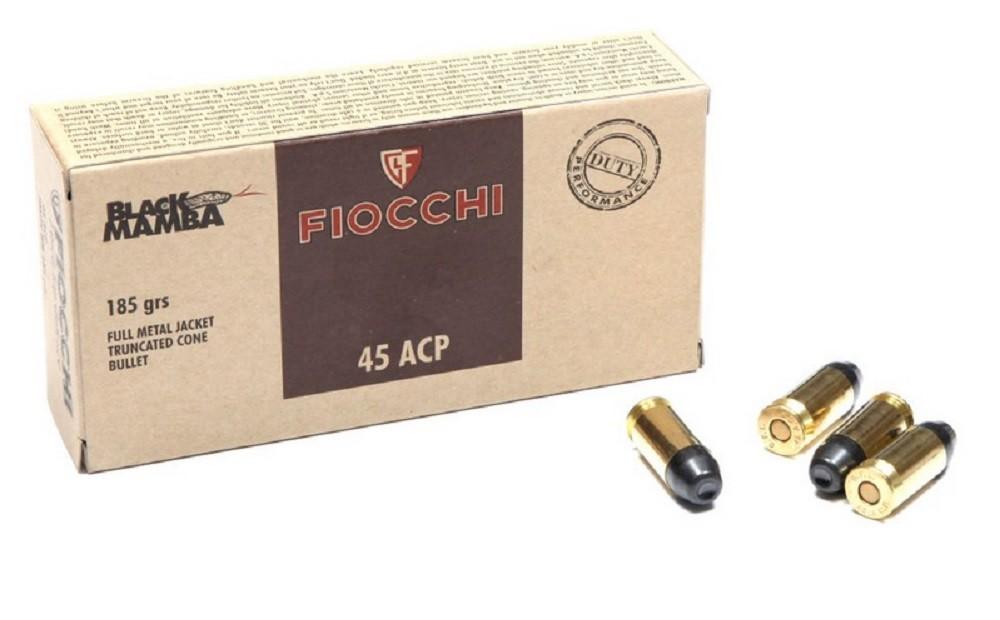 Náboje .45 Auto Black Mamba Fiocchi FMJTC 12g