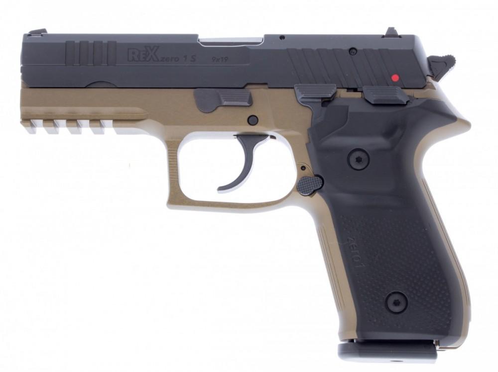 Pistole REX Zero 1 barva hnědá č.1