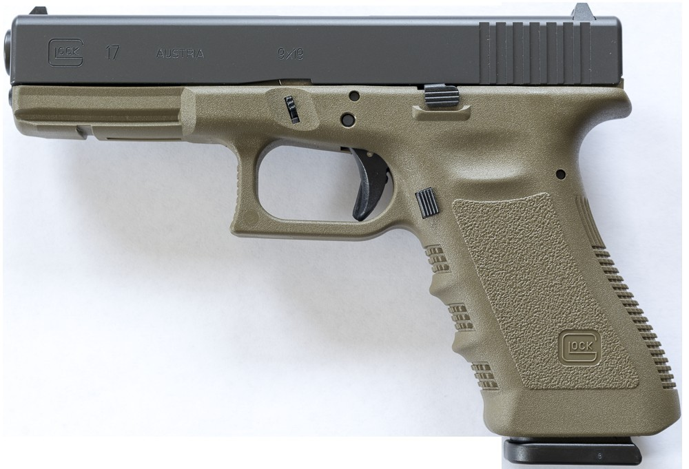 Pistole Glock 17 3.GEN Olive č.1