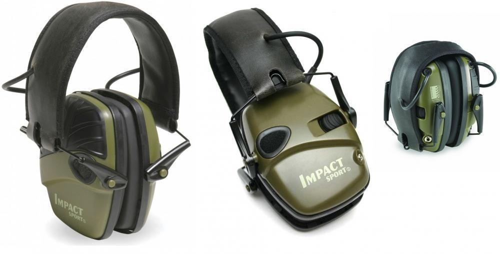 Elektronická sluchátka Howard Leight Impact Sport OD green č.1