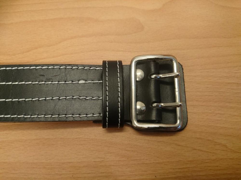 Opasek kožený dvouřadý XL