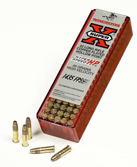 náboje .22LR Winchester Hyper Speed HP 40gr 1450 FPS balení 100ks
