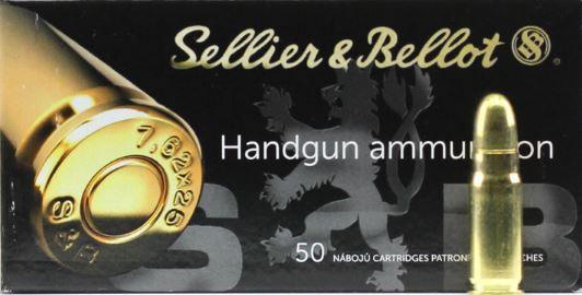 Náboje 7,62x25 Tokarev Sellier & Bellot 50 ks v balení