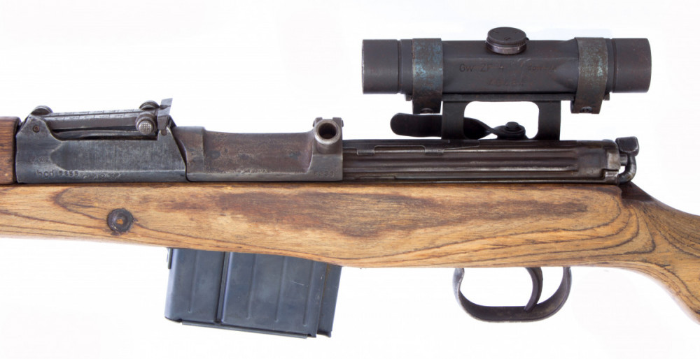 Puška samonabíjecí Gewehr 43 s optikou  7,92 mm č.4