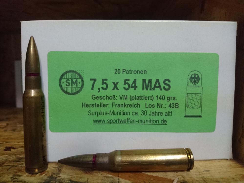 Náboje 7,5x54 MAS 140grs (francouzský)