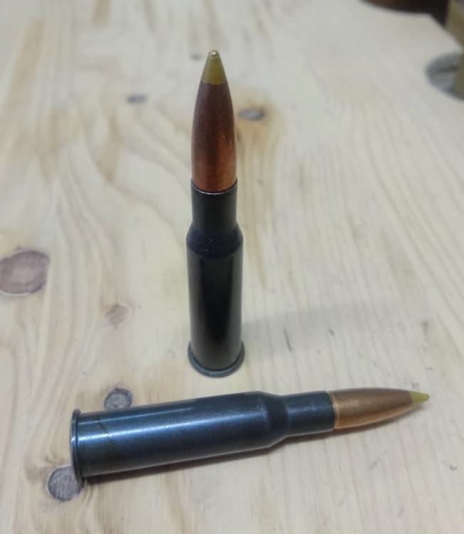 Náboje 7,62x54R 11,8 gramů žlutá střela (těžká střela)