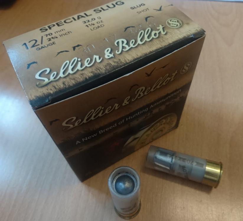 Náboje 12/70 Special Slug Sellier&Bellot 32,0