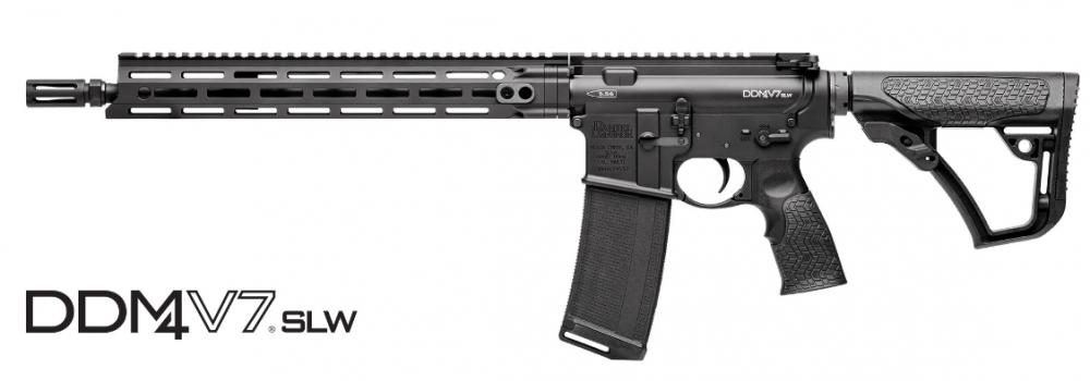 Samonabíjecí puška Daniel Defense – DDM4 V7 SLW Black M-lok 14,5'' cal .223 rem č.1