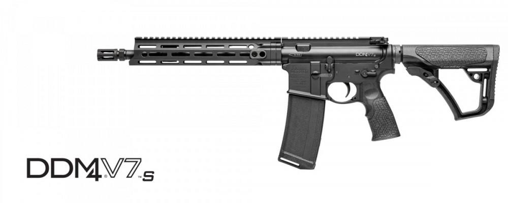 "Samonabíjecí puška Daniel Defense – DDM4 V7 S Black M-lok 11,5"" cal .223 rem"
