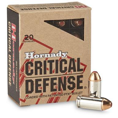 náboje Hornady, Critical Defense, .40 SW, 165GR, FTX CD