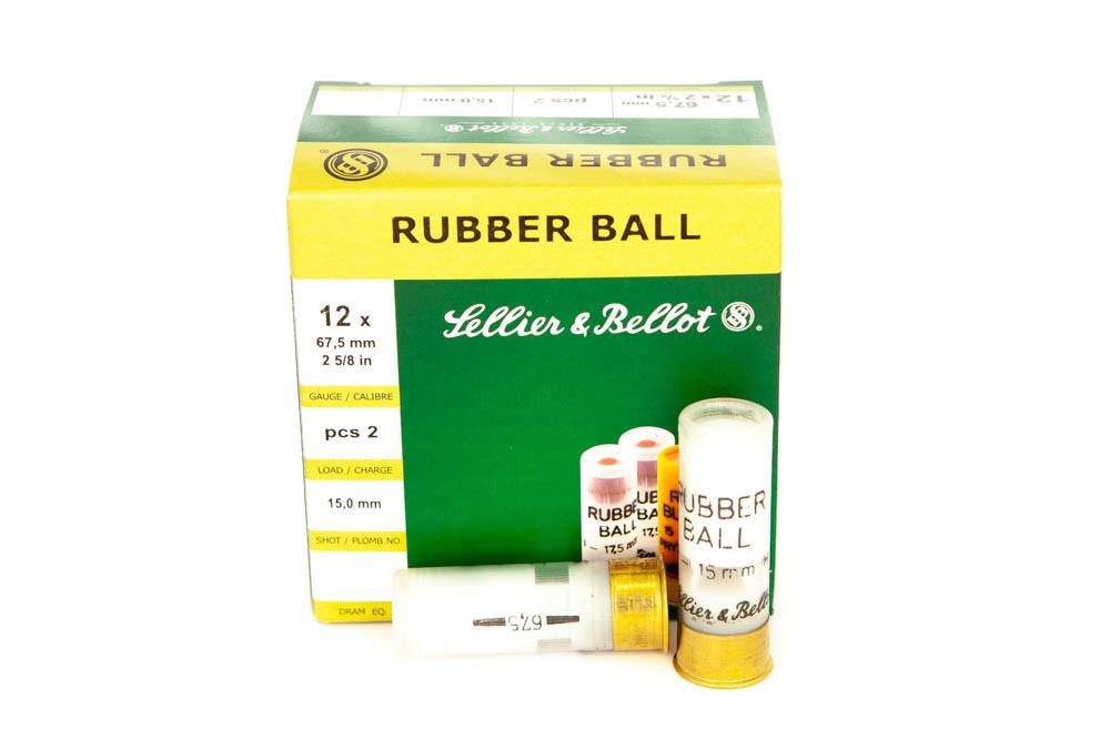 Náboje 12/67,5 RUBBER BALL (Sellier & Bellot)