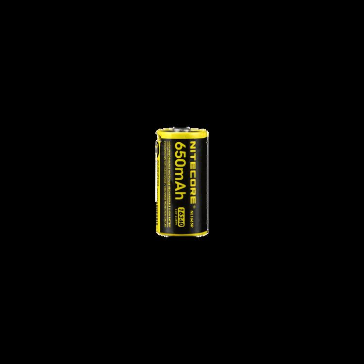 NITECORE 16340 (RCR 123) Micro USB dobíjecí, Li-ion 3,6V, 650 mAh