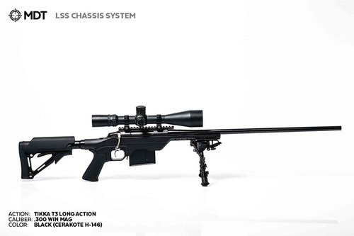 MDT LSS Tikka T3 Long action Black CHASSIS SYSTEM