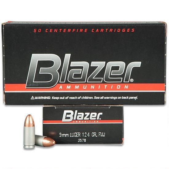 Náboje 9mm Luger Blazer FMJ 124 gr - Aluminium